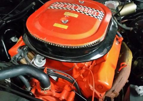 1970 'Cuda, very original 440+6 factory black