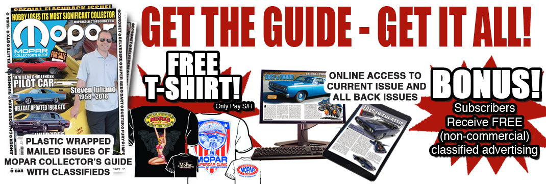 Get The Guide - Mopar Collector's Guide Magazine