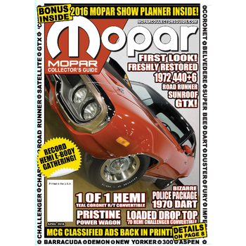 b5993490 Printed Back Issues Shipping US :: 2016 Issues - Mopar Collector's ...
